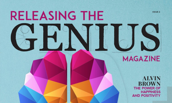 Screenshot of cover for Releasing the Genius Magazine