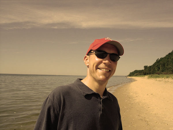 Rogeer at Lake Michigan in Manistee
